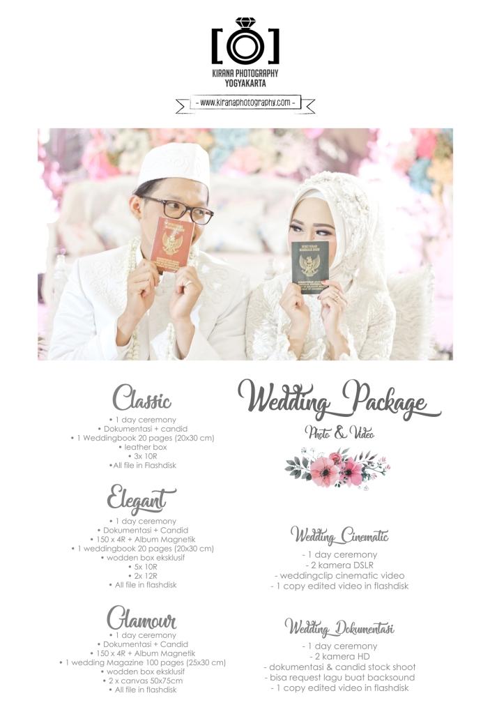 Paket Wedding Yogyakarta  Kirana Wedding Prewedding Yogyakarta